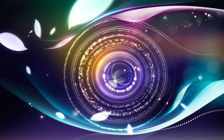 camera lens colored abstract wide e
