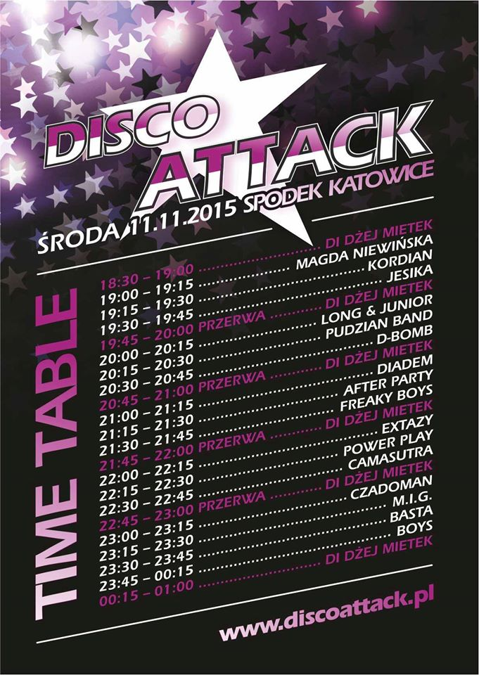 time table disco attack
