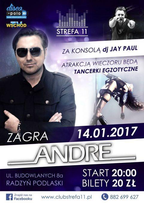 KoncertStrefaRadzyńPodlaski stycznia Andre