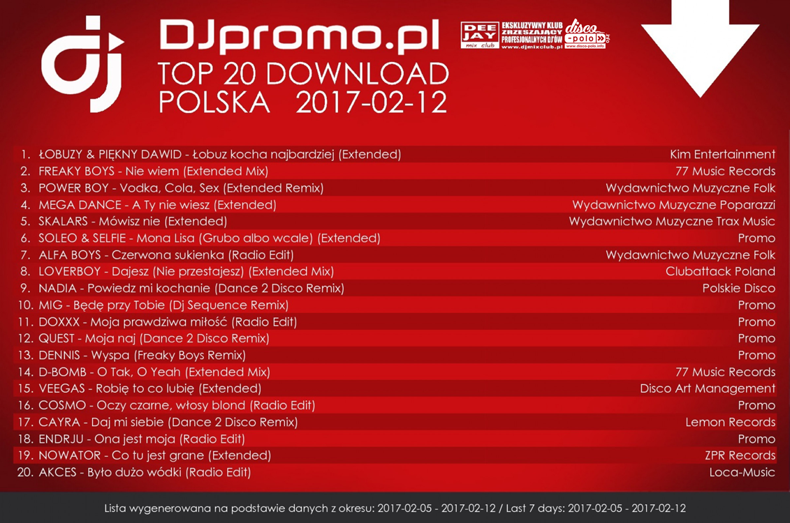 TOP 20 Download Polska Disco Polo (05.02.2017 - 12.02.2017)