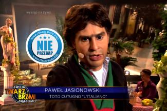 Paweł Jasionowski jako Toto Cutugno - Twoja Twarz Brzmi Znajomo