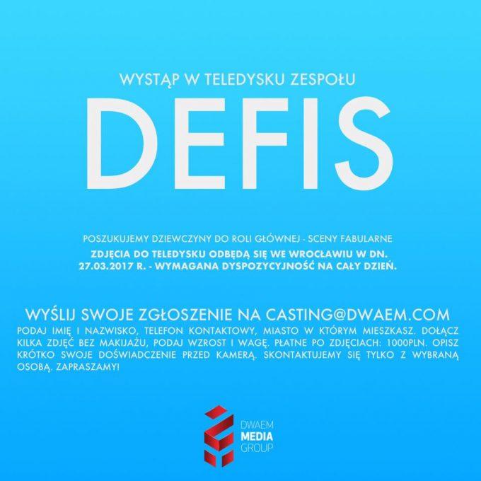 Wystąp w teledysku zespołu Defis